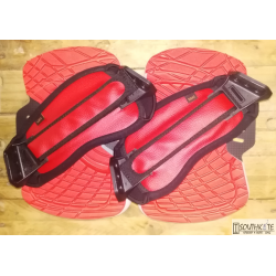 Set Pad & strap Fluid Rojo