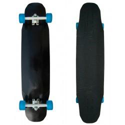 "Longboard Bamboo Fiberglass Black 9,5"" x 40"""
